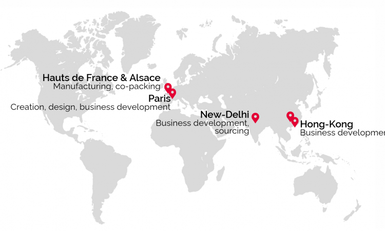 Map implementation worldwide superga beauty