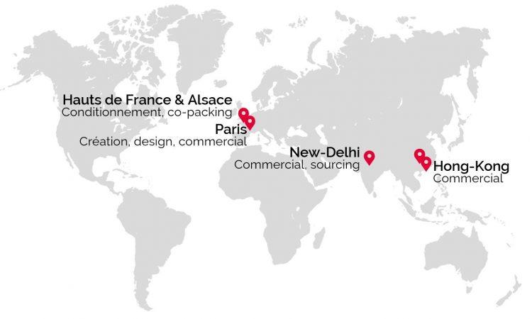 carte monde - implantation internationale